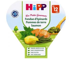 Fondue d'épinards pommes de terre / saumon