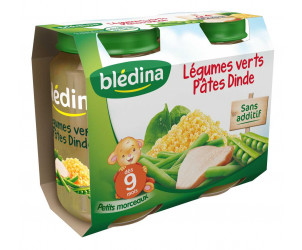 Pot Légumes verts Pâtes Dinde 2x200g