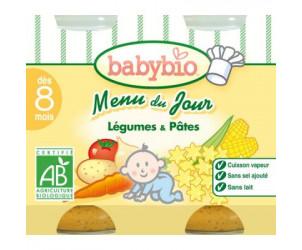 MENU BIO Légumes du soleil-Pâtes 200 g dès 8 mois