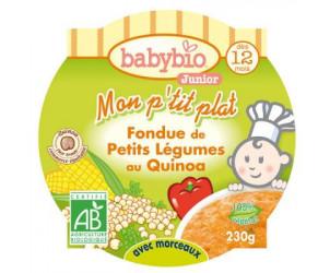 MON P'TIT PLAT Fondue de petits légumes au quinoa 230 g dès 12 mois