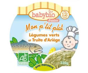 MON P'TIT PLAT Légumes verts et truite d'ariège 230 g dès 12 mois