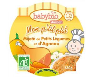 MON P'TIT PLAT Mijoté de petits légumes et d'agneau 230 g dès 12 mois