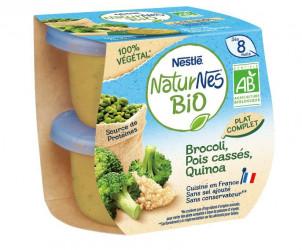 Naturnes BIO VEGETAL Brocoli, Pois cassés, Quinoa
