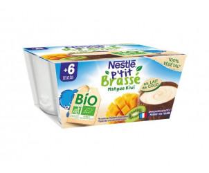 Naturnes BIO VEGETAL Pomme, Mangue, Banane, touche de lait de coco