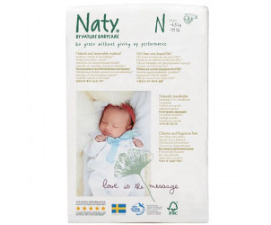 Couche Naty écologiques jetables Taille 0