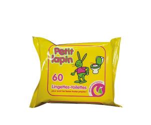 Lingettes bébé Toilette Petit Lapin (x 60)