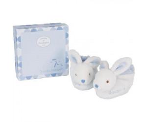 Coffret chaussons bébé lapin bonbon