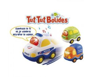 Voitures tut tut bolides (police + van + camion)