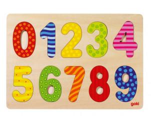 Puzzle en bois à encastrement - Thème chiffres