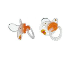 Sucettes Winnie silicone physiologiques (x2)
