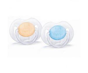 Sucettes silicone transparentes 0-6 mois