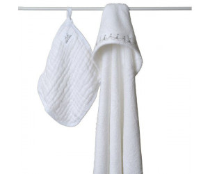 Carré de bain en mousseline + gant de toilette