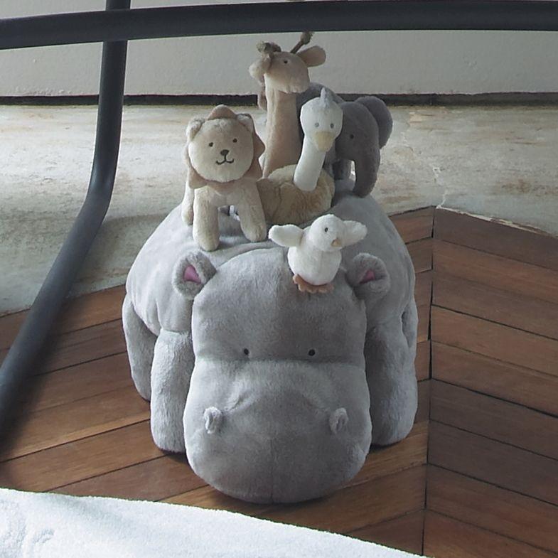 peluche d'activite hippopotame jacadi