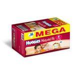 HUGGIES Natural Fit T4 7 14 kg MEGA BOX de 96 couches