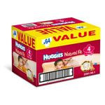 HUGGIES Natural Fit T4 714 kg VALUE BOX de 64 couches