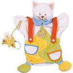 Marionnette Chat avec souris Doudou et Compagnie