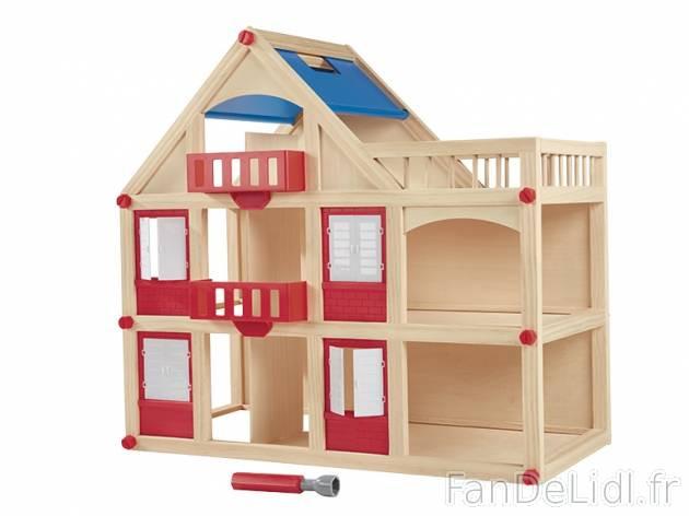 maison de poup e en bois playtive lidl avis. Black Bedroom Furniture Sets. Home Design Ideas