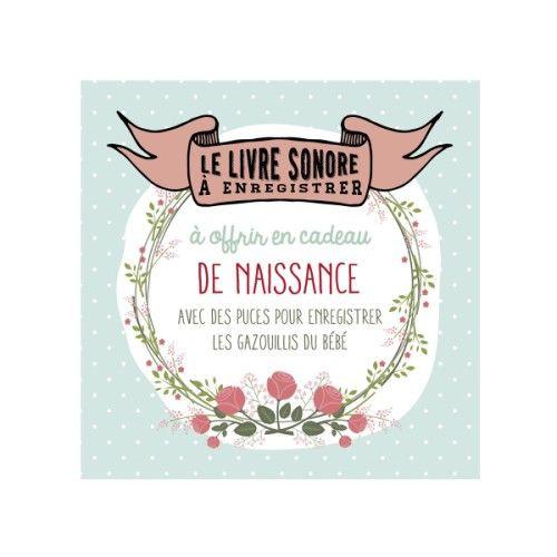 Livre Sonore A Enregistrer Pour Cadeau De Naissance Oxybul