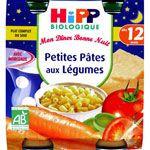 Petites pâtes fondue de légumes 250g dès 12 mois