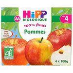 100% fruits Pommes 4 x 100 g dès 4 mois