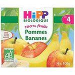 100% fruits Pommes bananes 4 x 100 g dès 4 mois