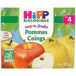 100% fruits Pommes coing 4 x 100 g dès 4 mois