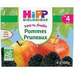 100% fruits Pommes pruneaux 4 x 100 g dès 4 mois