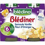 BLEDINER Semoule vanille fleur d'oranger 200 g dès 6 mois