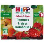 Pommes-fraises-framboises 190g dès 6 mois