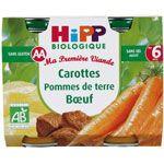Carottes pommes de terre boeuf 190 g dès 6 mois