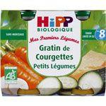 Gratin de courgettes Petits légumes 190 g dès 8 mois