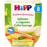 Julienne de légumes colin sauvage 190 g dès 8 mois