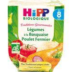 Légumes à la basquaise poulet fermier 190 g dès 8 mois