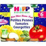 Petites pennes tomates courgettes 190 g dès 6 mois