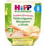 Petits légumes blanquette de dinde 190 g dès 8 mois