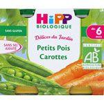 Petits pois carottes 190 g dès 6 mois