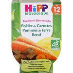 Poêlée de carottes pomme de terre boeuf 220 g dès 12 mois