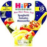 Spaghetti tomates mozzarella 12 mois