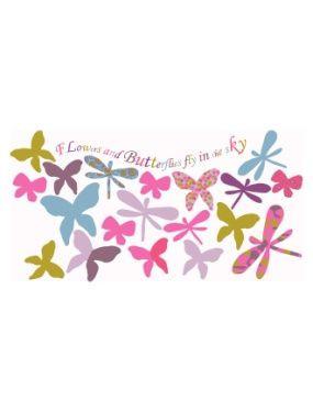 37 Stickers Papillons Et Libellules Chambre Fille Vertbaudet Avis