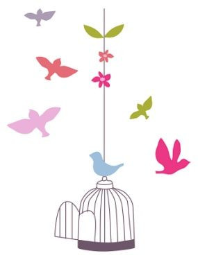 Sticker Geant Cage Et Oiseaux Chambre Fille Vertbaudet Avis