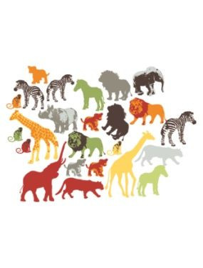 37 stickers animaux de la jungle chambre garcon vertbaudet - Chambre garcon jungle ...