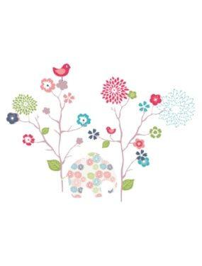 40 stickers fleurs et elephant chambre fille vertbaudet avis for Stickers elephant chambre bebe