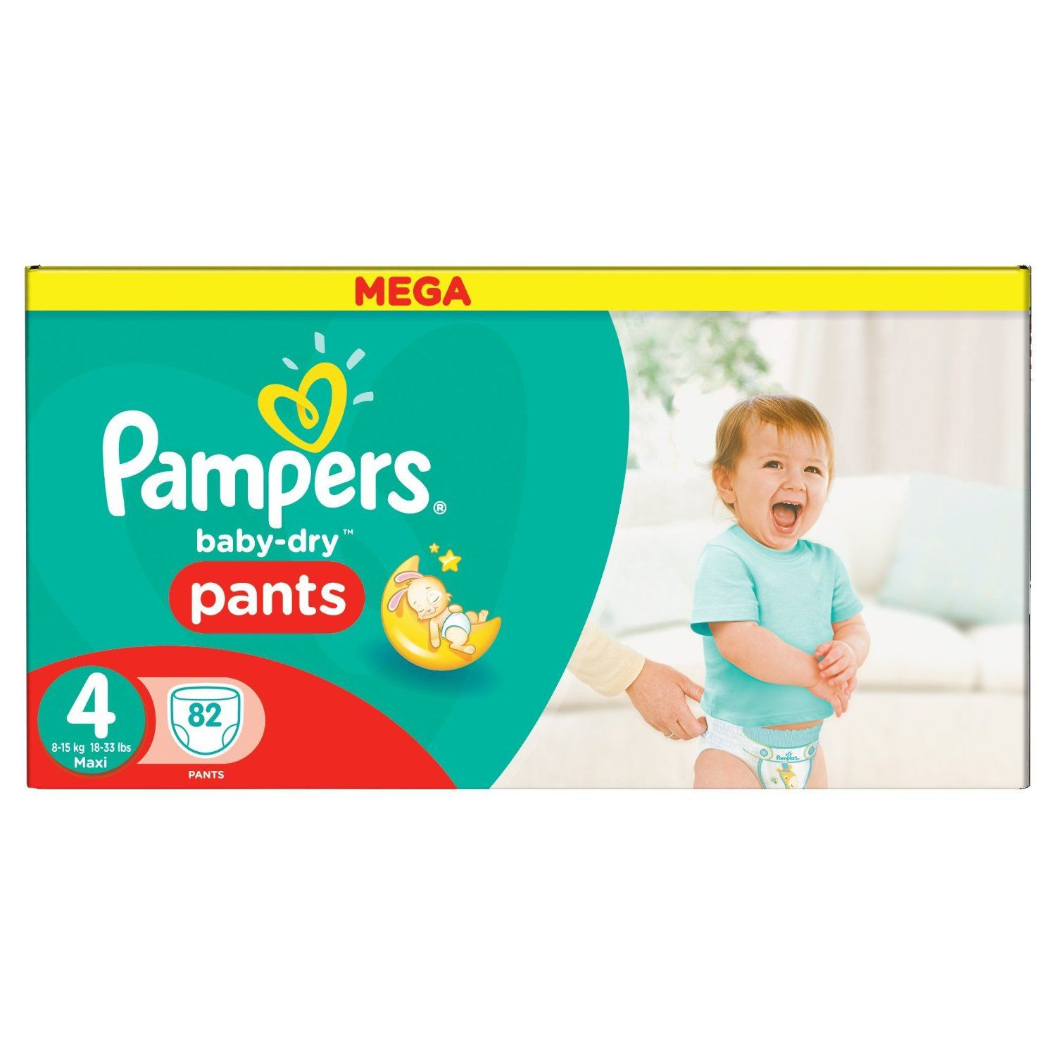 Couches Pampers Baby Dry Pants Taille 4 Pampers Avis