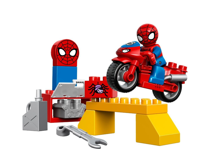 Duplo l 39 atelier de la moto araign e de spider man lego - Spider man moto ...