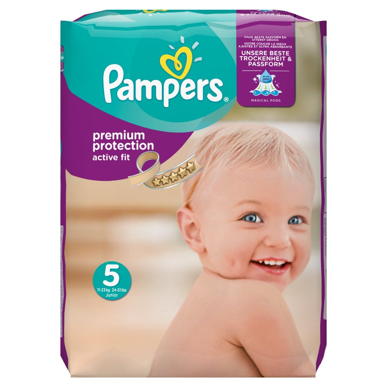 Couches pampers active fit junior t5 11 25 kg pampers avis for Pampers couche piscine