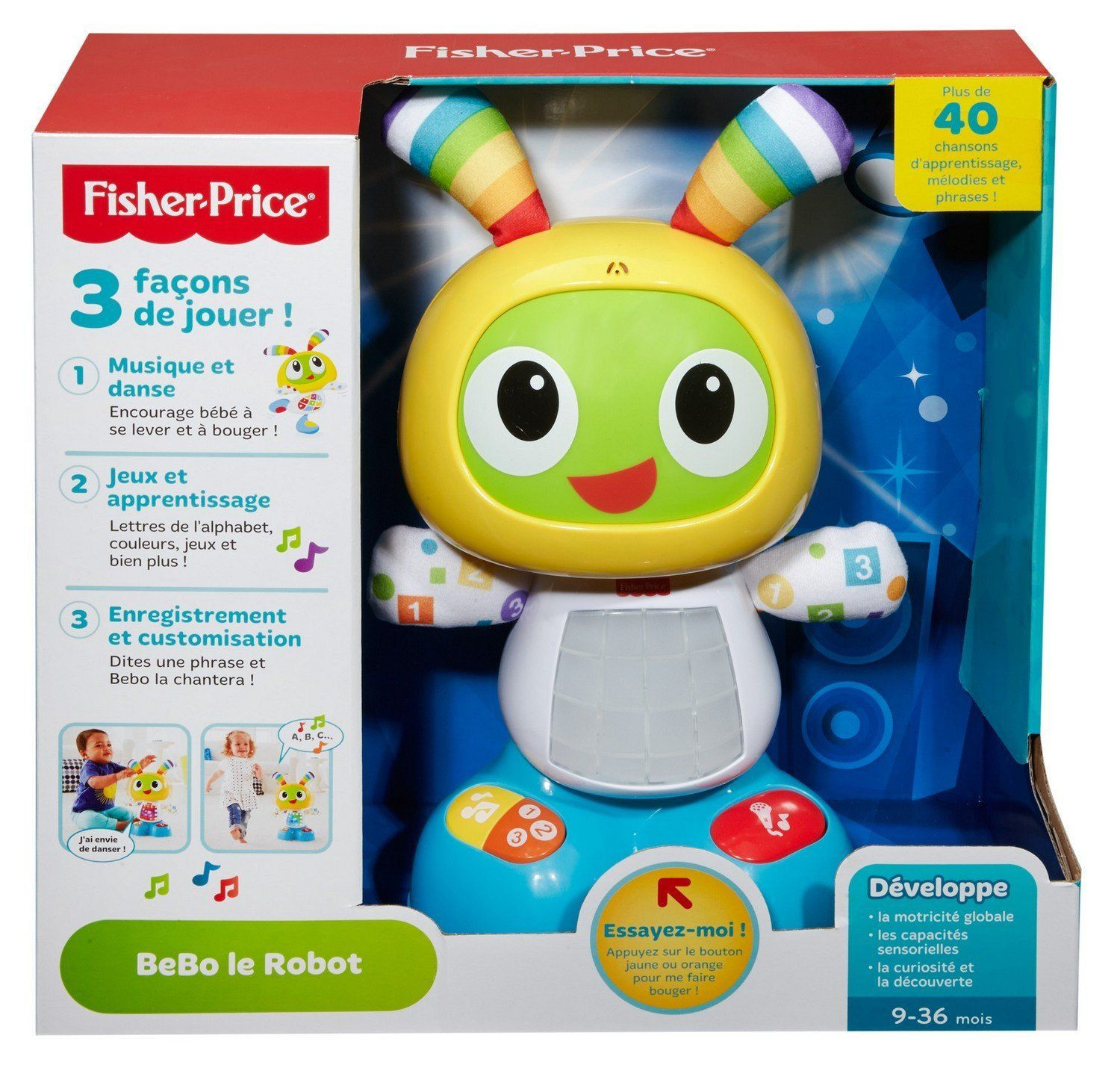 bebo le robot fisher price avis. Black Bedroom Furniture Sets. Home Design Ideas