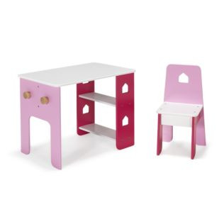 bureau et chaise roses pour enfant avec tag res et pat res alinea avis. Black Bedroom Furniture Sets. Home Design Ideas