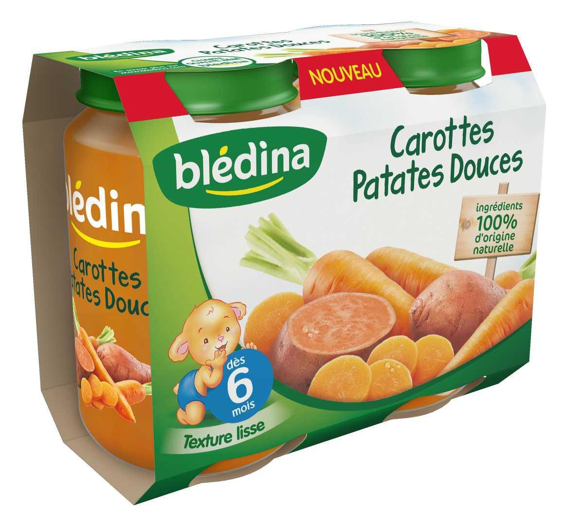 Initier Bébé Au Pot pot purée carottes patates douces 2x200g bledina : avis et