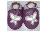 Chaussons bébé cuir Papillon