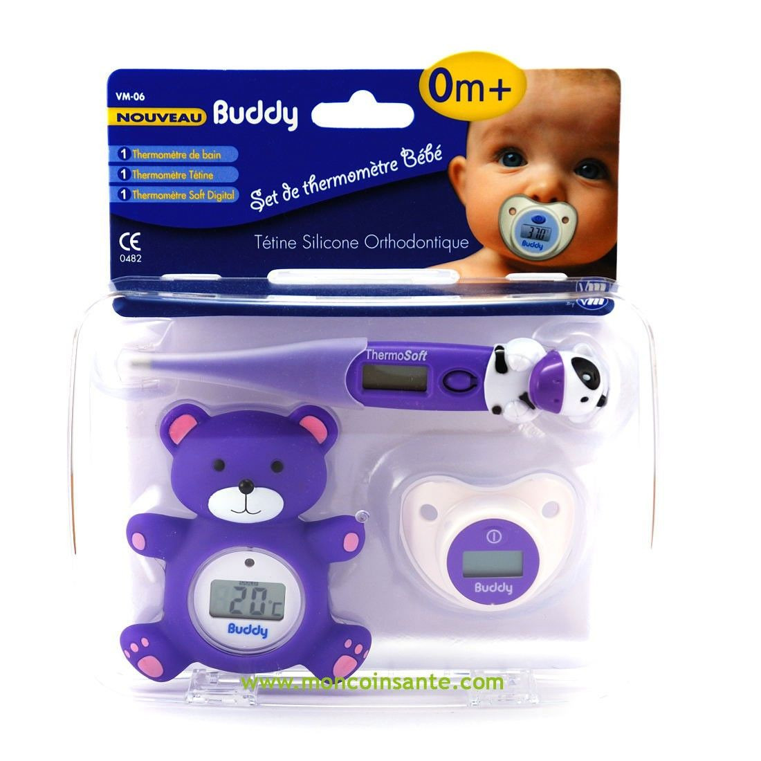 Coffret thermom tres buddy visiomed avis for Thermometre chambre bebe